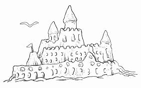 Good Sandcastle Coloring Page 16 For Free Colouring Pages With And Sand Castle