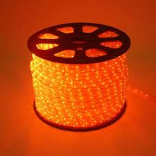 100FT Chasing Orange LED Rope Light 2 Wire