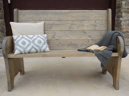 Ana White Headboard Bench by Ana White Church Pew Style Entry Bench Diy Projects