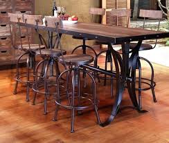 Counter Height Wood Table Legs Rustic Bar Dining With Iron On Industrial Style Home Ideas Center Petone