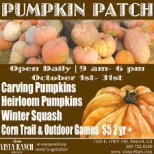 Pumpkin Patch Fresno Ca Hours by Pumpkin Patch U2013 Vista Ranch And Cellars