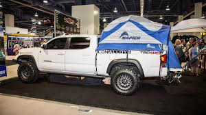 The Best Stuff We Found At The SEMA Show: Napier Truck Bed Tent ... Truck Tent On A Tonneau Camping Pinterest Camping Napier 13044 Green Backroadz Tent Sportz Full Size Crew Cab Enterprises 57890 Guide Gear Compact 175422 Tents At Sportsmans Turn Your Into A And More With Topperezlift System Rightline F150 T529826 9719 Toyota Bed Trucks Accsories And Top 3 Truck Tents For Chevy Silverado Comparison Reviews Best Pickup Method Overland Bound Community The 2018 In Comfort Buyers To Ultimate Rides