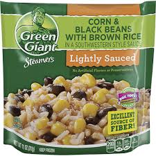 Green GiantR Steamers Southwestern Style Black Beans With Corn And Brown Rice 11 Oz Bag