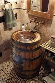 Love The Design For A DIY Barrel Sink Rustic Bathroom Decor Istandarddesign