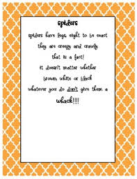 Poems About Halloween For Kindergarten by Halloween Spider Handprint Poem By Kindergarten Sparkles Tpt