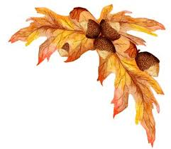 Fall Leaves Corner Clipart Oak Leaf Cluster Clipart