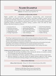 Customer Service Skills List Resume Awesome Summary Examples Administrative Assistant Of Sufficient And