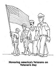 Honoring US Veterans By Celebrating Day Coloring Page