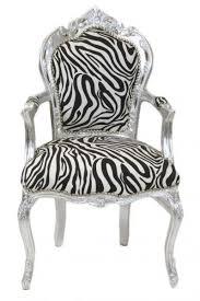 casa padrino barock esszimmer stuhl zebra silber mit