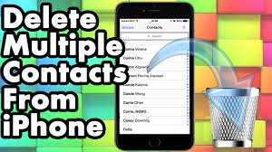 How To Delete Multiple All Contacts From Your iPhone iPad and