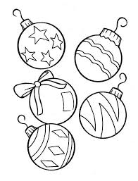 Christmas Lovely Ball Ornaments For Tree On Coloring Page