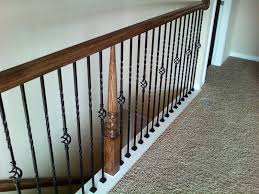 Banister Spindle Replacement Iron Balusters Single Double Twist ... Stairs How To Replace Stair Spindles Easily How To Replace Stair A Full Remodel At The Stella Journey Home Visit Website The Orange Elephant In Room Chris Loves Julia Banister Spindle Replacement Replacing Wooden Balusters Wrought Iron Dallas Spindles 122 Best Staircase Ideas Images On Pinterest Staircase Open Handrail Vs Half Wall Basement Remodeling Ideas Dublin Ohio Wrought Iron Google Search For Home Stalling Banister Carkajanscom Oak Top Latest Door Design Remodelaholic Renovation Using Existing Newel