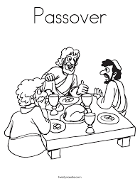 Superb Passover Meal Coloring Pages By Newest Article