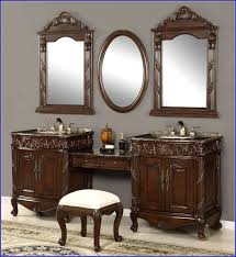 Small Bathroom Vanities With Makeup Area by Bathroom Sink Vanity With Makeup Area Bathroom Home Design