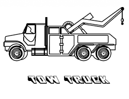 Car Transporter Tow Truck Coloring Pages Regarding