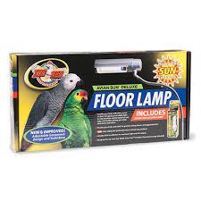 zoo med avian sun deluxe floor l for birds w 5 0 uvb compact