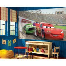Lighting Mcqueen Toddler Bed by Disney Cars Accent Wall Mural Lightning Mcqueen Wallpaper Decor