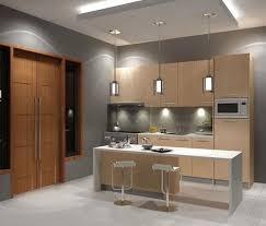 cuisine en l avec ilot central design interieur cuisine îlot design moderne bois clair lignes