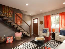 Red And Taupe Living Room Ideas by Flipping The Block On Hgtv Hgtv