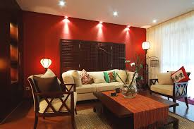 Red Accent Wall Living Room Coma Frique Studio Bedroom Dining Deep