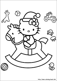 Christmas Friends Coloring Picture Hello Kitty