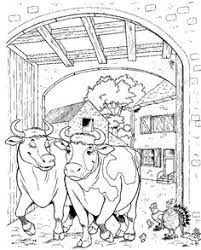 FREE Cow Animal Coloring Page For Adults