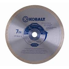 Rigid 7 Tile Saw Blade by Shop Kobalt 7 In 1 Tooth Wet Or Dry Cut Continuous Diamond