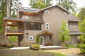 Lakeside Cabin Plans by 3 Story Plans For Lakeside Vacation Home With Open Layout