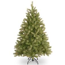 Balsam Christmas Trees Real by 4 5 Ft Unlit Feel Real Downswept Douglas Fir Artificial Christmas