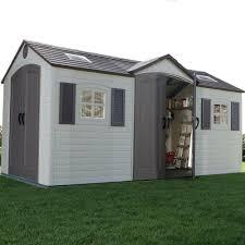 lifetime 15 x 8 dual entrance plastic shed