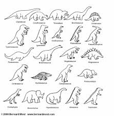 Names Of Dinosaurs Coloring Page