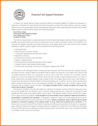 Sample Financial Aid Appeal Letter Resume and Cover Letter