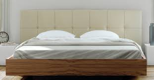King Platform Bed With Leather Headboard by Float Bed With Upholstered Headboard Mattress Support In Leather