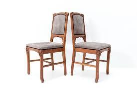 antike französische jugendstil eichenholz esszimmerstühle jacques gruber 1900er 6er set