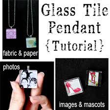 glass tile pendants sugar bee crafts