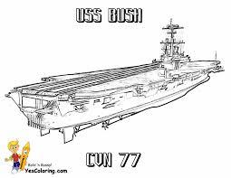 Free Ship Coloring Page USS Bush At YesColoring