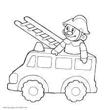 100 Fire Truck Drawing Easy Coloring Pages With At Gets Com Free