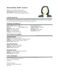 Simple Sample Resume Ideas Of Download Format With