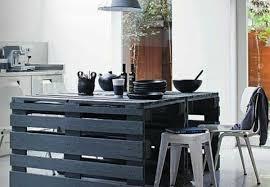 meuble cuisine palette petits meubles en palettes de récup lila sur sa terrasse