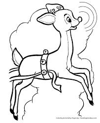 Rudolph Reindeer Coloring Sheet