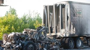 100 Semi Truck Carrying Whiskey Wrecks On I264 Burst Into Flames