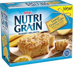 Kelloggs Nutri Grain Bakery Delights Lemon Crumb Cake