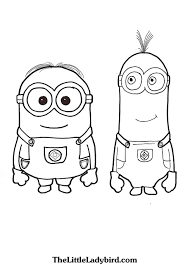 Dave And Tim The Minions Coloring Page