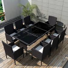 Details About Outdoor Dining Set 17 Pcs Rattan Table Chair Garden Furniture  Set Black New Y7N0 315 Round Alinum Table Set4 Black Rattan Chairs 8 Seater Ding Set L Shape Sofa Brown Beige Garden Amazoncom Chloe Rossetti 17 Piece Outdoor Made Coffee Table Set Stock Photo Image Of Contemporary Hot Item Modern Fniture Stainless Steel And Lordbee Large 5 Pcs Patio Wicker Belleze 3 Two One Glass Details About Chair Cushion Home Deck Pool 3pc Durable For Pcs New Y7n0