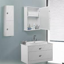 spiegelschrank badschrank badezimmerschrank hängeschrank eintürig mit ablage zum aufhängen weiß 41 x 60 x 14cm b x h x t lhc001 white