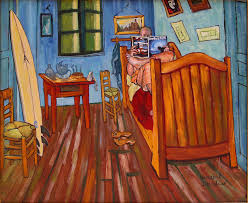 Vincents Bedroom In Arles For Surfers amadeus Series Painting by