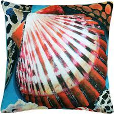 Newport Beach Bay Scallop Mix Throw Pillow 20x20 from Pillow Decor