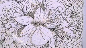 The 3Cs Doodle Zentangle Adult Coloring Book Floral Designs Vol1