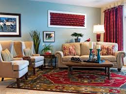 Red Living Room Ideas Design by Casual Living Room