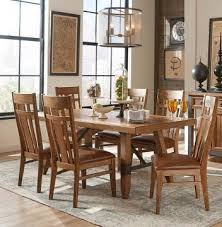 Intercon Furniture River 7 Piece Trestle Dining Room Set In Weathered Sand